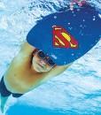 Zoggs-Kinder-Superman-Silicone-Cap-Badekappe-0-1