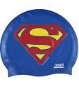 Zoggs-Kinder-Superman-Silicone-Cap-Badekappe-0