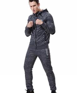 AIRAVATA-Herren-Trainingsanzug-Sweatjacke-Hose-Sportbekleidung-Jogging-Fitnessanzug-0
