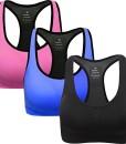 ANGOOL-Damen-Komfort-Klassische-Racerback-Sport-BH-Top-Fuer-Yoga-Fitness-Training-0