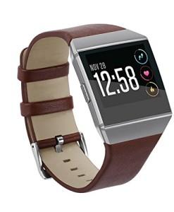 Armbanduhr-Band-yustar-Fitness-Tracker-Accessoires-New-Ersatz-Leder-Smart-Armband-Armband-fr-Fitbit-Ionic-Herzfrequenz-Tracker-0