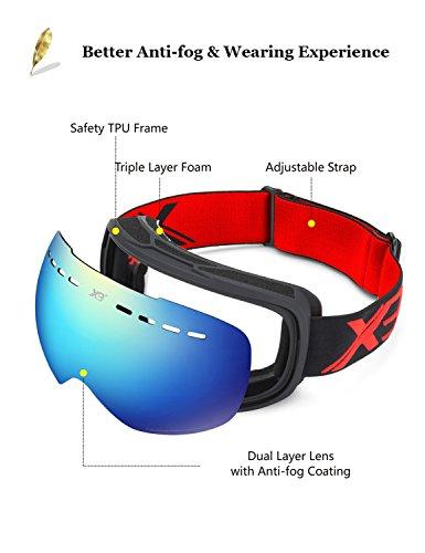 Skibrille-Herren-Damen-Snowboardbrille-Erwachsene-ber-Glser-OTG-rahmenlose-fr-Ski-Anti-Fog-von-Dada-pro-UV-Schutz-Sonnenbrille-0-2