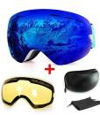 Skibrille-mit-Beschlag-und-UV-Schutz-fr-Wintersportarten-Snowboardbrille-mit-austauschbarer-sphrischer-Dual-Linse-fr-Mnner-Frauen-und-Jugendliche-fr-Schneemobil-Skifahren-oder-Skaten-0