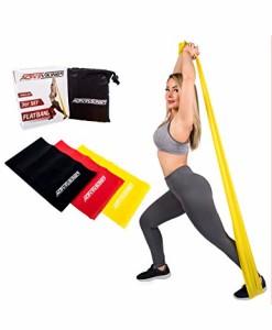 ActiveVikings-Fitnessbnder-Set-3-Strken-2m-Lnge-Ideal-fr-Muskelaufbau-Physiotherapie-Pilates-Yoga-Gymnastik-und-Crossfit-Fitnessband-Gymnastikband-Widerstandsbnder-0