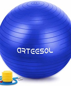Arteesol-Gymnastikball-65cm-75-cm-inkl-Pumpe-Anti-Burst-Sitzball-fr-Yoga-Pilates-Fitness-Physiotherapie-5-Farben-0