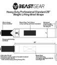 Beast-Gear-Handgelenkbandage--2x-Handgelenksttze-Wrist-Wraps-fr-Sport-Fitness-Bodybuilding-Stabilisierend-Schtzend-auch-bei-sehr-hohen-Gewichten-Belastungen-0-5