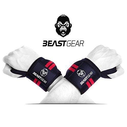 Beast-Gear-Handgelenkbandage--2x-Handgelenksttze-Wrist-Wraps-fr-Sport-Fitness-Bodybuilding-Stabilisierend-Schtzend-auch-bei-sehr-hohen-Gewichten-Belastungen-0