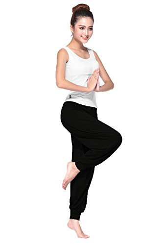 BeautyWill-Haremshose-Jogginghose-Yoga-Pilates-Hosen-Freizeithosen-Weiche-Modal-Lange-Hose-fr-Damen-0-0
