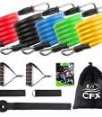 CFX-Resistance-Bands-Widerstandsband-SetExpander-Bnder-Band-Tubes-Fitnessbnder-Set-mit-5-Fitnessgummi-Schluchen-2-x-Griffen-1-x-Trrahmenbefestigung-2-x-Fubefestigung-1-x-Aufbewahrungsbeutel-0