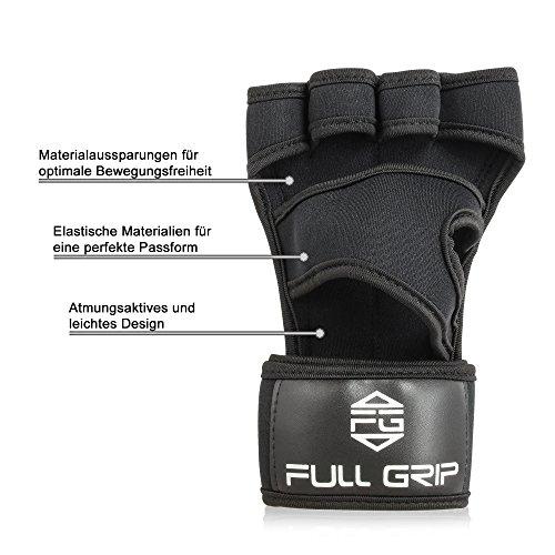 FULL-GRIP-Fitness-Handschuhe-mit-sttzender-Handgelenkbandage-Trainingshandschuhe-fr-Crossfit-und-Kraftsport-mit-Einer-Handinnenflche-aus-Leder-0-0