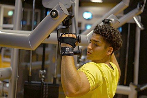 FULL-GRIP-Fitness-Handschuhe-mit-sttzender-Handgelenkbandage-Trainingshandschuhe-fr-Crossfit-und-Kraftsport-mit-Einer-Handinnenflche-aus-Leder-0-4