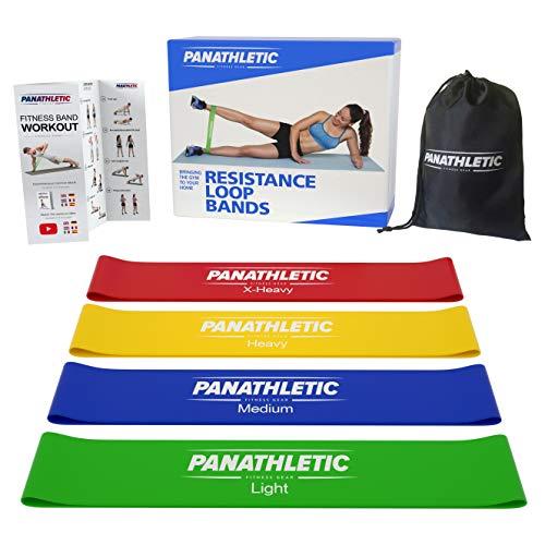 Fitnessbnder-Widerstandsbnder-4er-Set-von-Panathletic-mit-Anleitung-eBook-auf-Deutsch-und-Tragebeutel--4x-Fitnessband-Widerstandsband-Gymnastikband-Trainingsband-bungsband-Fitness-Band-Gymnastikbnder--0