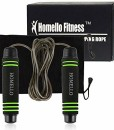 Homello-Springseil-Speed-Jump-Rope-Verstellbare-mit-Hautfreundlichen-Schaum-Griffe-und-Stahl-Seil-fr-Fitness-und-Boxen-Inklusive-Tragebeutel-0