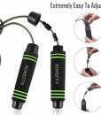 Homello-Springseil-Speed-Jump-Rope-Verstellbare-mit-Hautfreundlichen-Schaum-Griffe-und-Stahl-Seil-fr-Fitness-und-Boxen-Inklusive-Tragebeutel-0-5