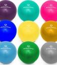 Mini-Pilates-Ball-Balle-18cm-23cm-28cm-33cm-Gymnastikball-fr-Beckenbungen-Strkung-der-Bauchmuskulatur-Erhltlich-in-Blau-Trkis-Silber-Violett-Grn-Gelb-Orange-und-Himmelblau-0