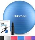 Proworks-Gymnastikball-55cm-85cm-Heavy-Duty-Sitzball-fr-Sport-Physiotherapie-Schwangerschaft-Yoga-Pilates-Fitness-Ball-fr-Rckenbungen-und-Dehnbungen-In-6-inkl-Pumpe-0