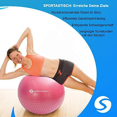 Sportastisch-AUSGEZEICHNETER-Gymnastikball-Variante-mit-Ring-und-Widerstandsbndern-oder-Noppen-55-60cm-Sitzball-Ideal-zum-Sport-und-frs-Bro-Bonus-E-Book-Bis-zu-3-Jahre-Garantie-0-3