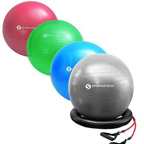 Sportastisch-AUSGEZEICHNETER-Gymnastikball-Variante-mit-Ring-und-Widerstandsbndern-oder-Noppen-55-60cm-Sitzball-Ideal-zum-Sport-und-frs-Bro-Bonus-E-Book-Bis-zu-3-Jahre-Garantie-0