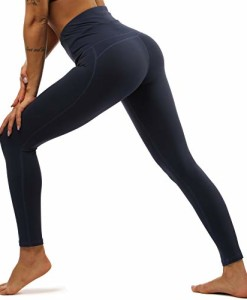 Yavero-Sporthose-Damen-High-Waist-Blinkdicht-Sport-Leggings-Elastische-Tummy-Control-Yogahose-Lange-Laufhose-mit-Taschen-0