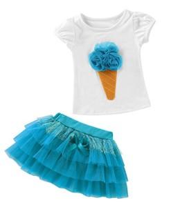 Zhen-BabyKinder-Mdchen-Bekleidungs-Sets-Kurzarm-Shirt-Prinzessin-Kleid-Mode-Niedlich-Baby-Kleidung-Top-Hemden-Weste-Pompon-Rock-Outfits-Babyanzug-0