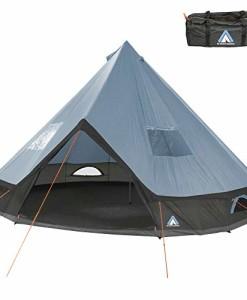 10T-Tipi-Zelt-Mojave-mit--4-oder--5m-zur-Wahl-8-10-Mann-Pyramidenzelt-XXL-Indianerzelt-wasserdichtes-Rundzelt-5000-mm-Camping-Gruppenzelt-0