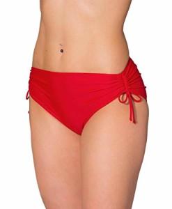 Aquarti-Damen-Bikinihose-mit-Raffung-und-Schnren-0