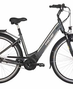 FISCHER-E-Bike-City-CITA-50i-2019-schiefergrau-matt-28-RH-44-cm-Brose-Mittelmotor-50-Nm-36-V-Akku-im-Rahmen-0