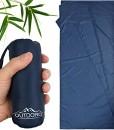 Outdoro-Httenschlafsack-Ultra-Leichter-Reise-Schlafsack-nur-200-g-aus-Mikrofaser-dnn-klein-Inlett-Travel-Sheet-0
