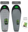 PRO-OUTSIDE-Premium-Mumienschlafsack-80-GSM-dnn-300-GSM-dick-I-Wrmekragen-Wertsachenfach-I-Hochleistungsstoff-und-viele-Funktionen-I-230x80x55-cm-I-Anthrazit-Grau-Grn-0