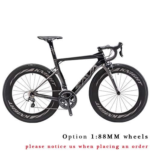 SAVADECK-Phantom30-Carbon-Rennrad-700C-Kohlefaser-Rennrder-Fahrrad-mit-Shimano-Ultegra-8000-22-Speed-Schaltgruppe-Michelin-700C25C-Reifen-und-Fizik-Sattel-0