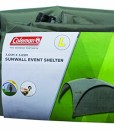 Seitenwand-fr-Coleman-Event-Shelter-M-3-x-3-m-1-Pavillon-Seitenteil-Seitenplane-dient-auch-als-Sonnenschutz-Wasserabweisend-Grn-0