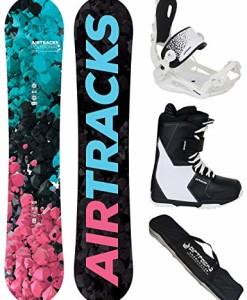 Airtracks-Damen-Snowboard-Komplett-SetPolygonal-Lady-Snowboard-Hybrid-Rocker-Bindung-Master-FASTEC-W-Boots-SB-Bag-138-144-148-154-cm-0