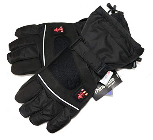 Beheizbare-Handschuhe-mit-4-Stufen-Temperaturregler-wasserabweichend-atmungsaktive-mit-3M-Thinsulate-und-TPU-Membran-Akkubetrieb-0