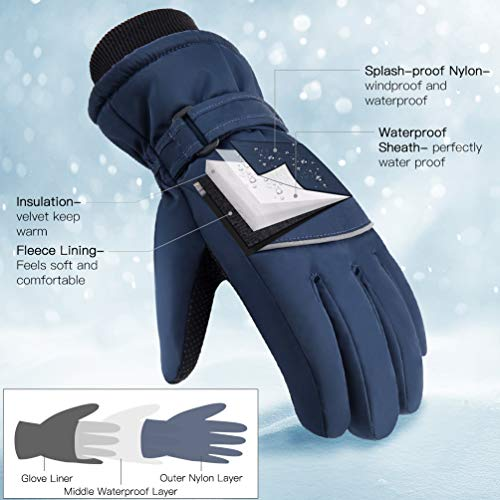 VBIGER-Ski-Handschuhe-Skating-Handschuhe-Warm-Winter-Handschuhe-Verdickt-Kalt-Wetter-Handschuhe-Beilufig-Outdoor-Sports-Handschuhe-Winddicht-Geeignet-fr-6-12-Jahre-kinder-0-0