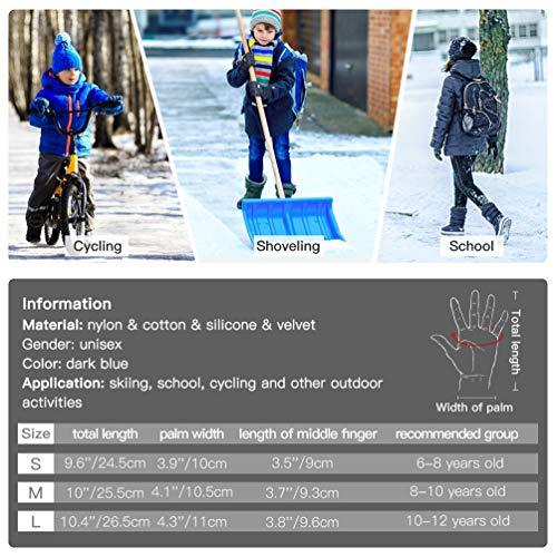VBIGER-Ski-Handschuhe-Skating-Handschuhe-Warm-Winter-Handschuhe-Verdickt-Kalt-Wetter-Handschuhe-Beilufig-Outdoor-Sports-Handschuhe-Winddicht-Geeignet-fr-6-12-Jahre-kinder-0-1