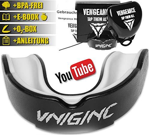 Vengeance-MMA-Premium-Mundschutz-inklusive-Video-Tutorial-Hygienebox-Namensschild-E-BookHCG-Dit-MMA-Krav-MAGA-BJJ-Boxen-Kickboxen-Zahn-und-Kieferschutz-universell-0