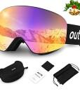 outlife-Skibrille-Snowboardbrille-Hyperboloid-Schneebrille-OTG-Anti-Fog-100-UV-Schutz-Weitsicht-Wechselobjektiv-Rahmenlos-Ski-Goggles-fr-Damen-Herren-Erwachsener-Teenager-0